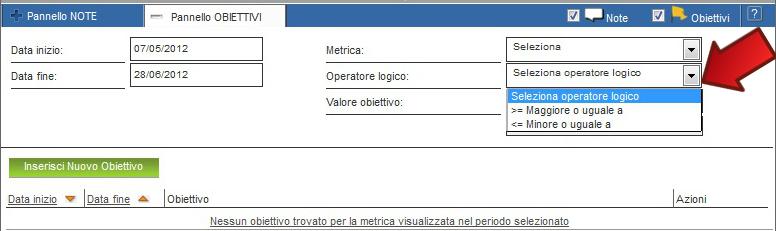 ShinyStat - Pannello Obiettivi - Operatore Logico