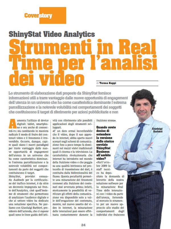 Intervista a Gianluigi Barbieri, Presidente di ShinyStat - Prima pagina dell'articolo tratto da Netforum Ottobre 2012
